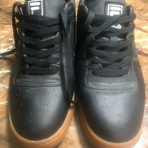 EUC Black Filas with gumball soles